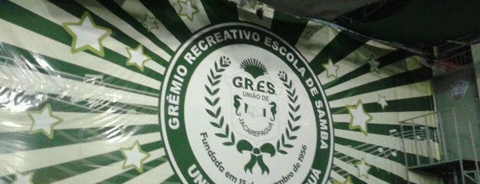 G.R.E.S. União de Jacarepaguá is one of Escolas de Samba do Rio de Janeiro.