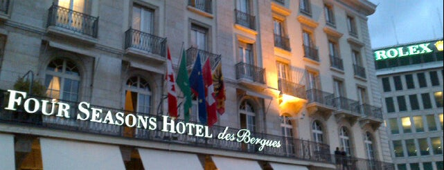 Four Seasons Hotel des Bergues Geneva is one of Geneva.