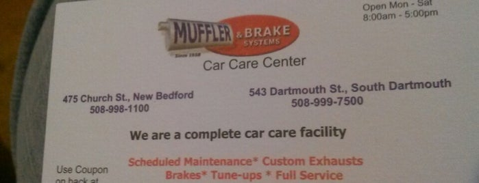 Muffler & Brake Systems is one of Places.