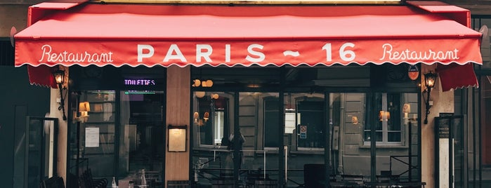 Le Paris 16 is one of Favorites restaurants in Paris.