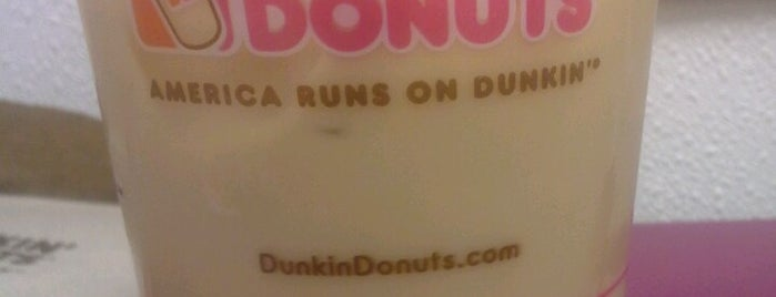Dunkin Donuts is one of just a list of places.