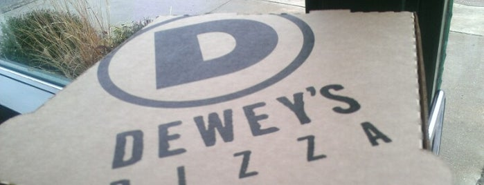 Dewey's Pizza is one of Places tried: recommend.