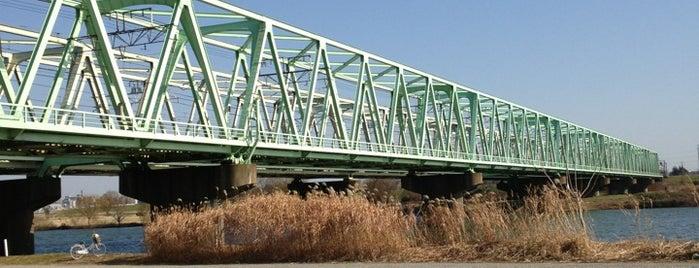 常磐線 江戸川橋梁 is one of 千葉県と隣県を繋ぐ鉄道橋.