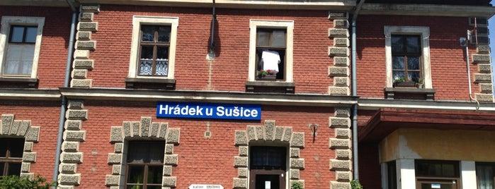 Železniční stanice Hrádek u Sušice is one of Železniční stanice ČR: H (3/14).