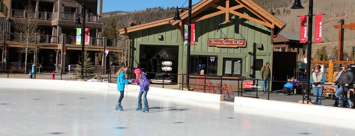 Dercum Square Ice Rink is one of Winter Family Activities at Keystone!.