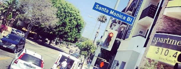 Santa Monica Boulevard is one of Los angeles.