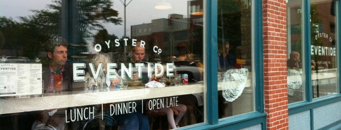 Eventide Oyster Co. is one of Portland ME Eateries.