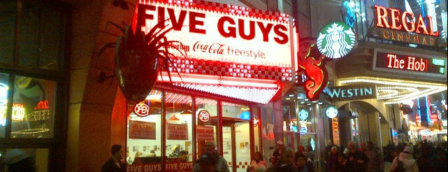 Five Guys is one of Favorite Restaurant In NYC.