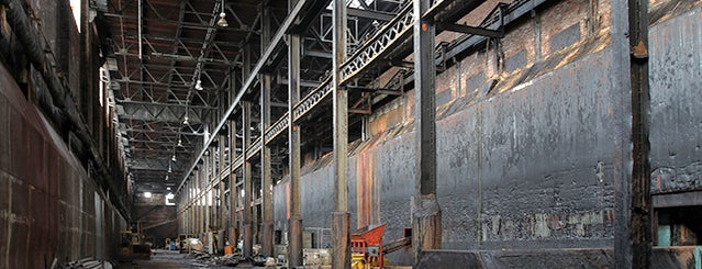 Domino Sugar Refinery is one of Abandoned NYC.