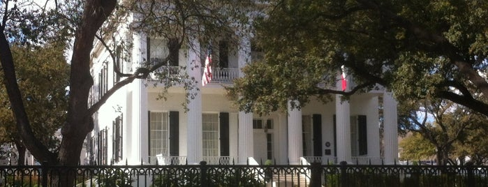 Texas Governor's Mansion is one of Hook 'Em Horns- Austin.