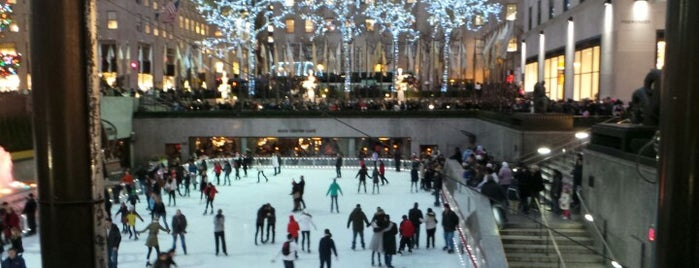 The Rink at Rockefeller Center is one of Pretend I'm a tourist...NYC.