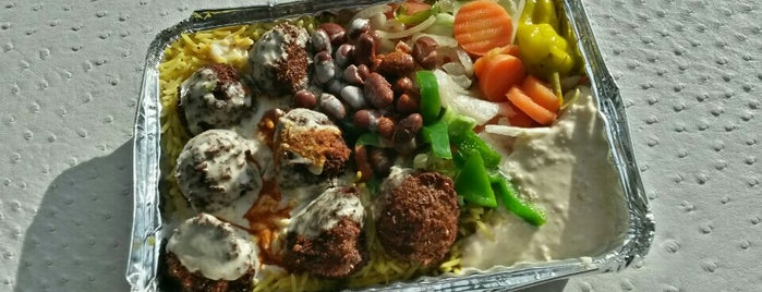 Alan's Falafel Cart is one of NYC Food Trucks.