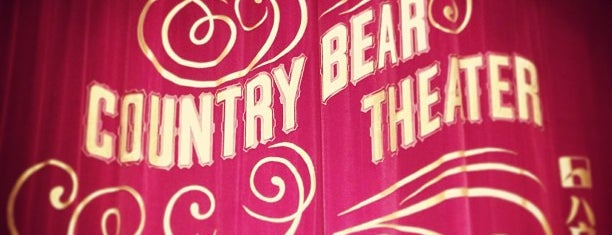 Country Bear Theater is one of Disney.