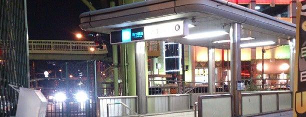 Suminoekoen Station (Y21) is one of 大阪市営地下鉄 四つ橋線.