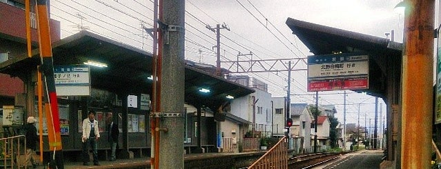 Tokiwa Station (B2) is one of 嵐電.