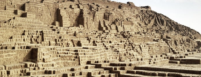 Huaca Pucllana is one of La ruta miraflorina de Gastón.