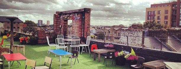 Dalston Roof Park is one of it place.