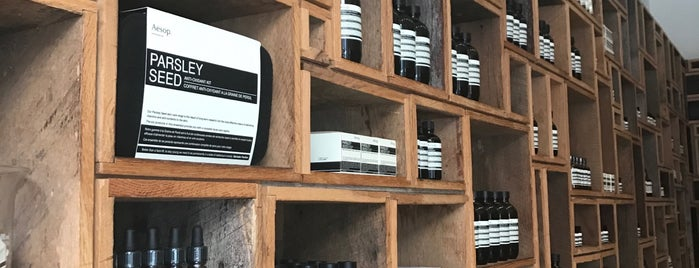 Aesop is one of The 15 Best Cosmetics Shops in New York City.