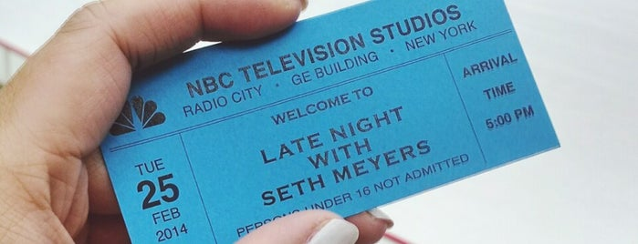 Studio 8G - Late Night with Seth Meyers is one of NYC spots.