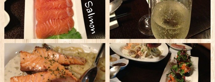 SOVS with salmon is one of The 15 Best Places for Sashimi in Seoul.