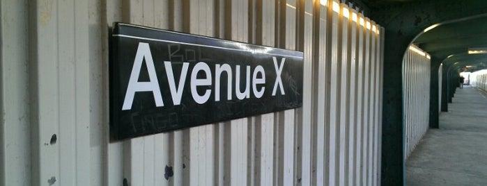 MTA Subway - Avenue X (F) is one of MTA Subway - F Line.