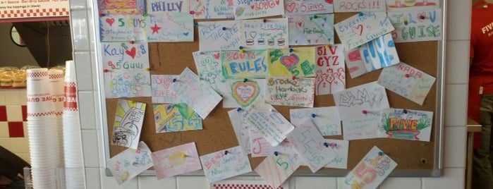 Five Guys is one of Places I have gone.