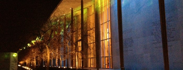 The John F. Kennedy Center for the Performing Arts is one of 36 hours in...Washington DC.