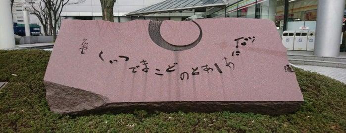 山頭火句碑「砂にあしあとのどこまでつづく」 is one of 近現代.