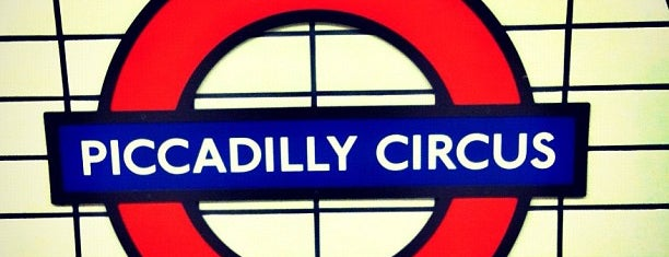 Piccadilly Circus London Underground Station is one of London.
