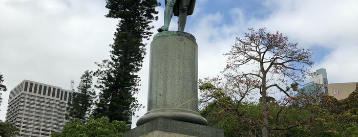 Captain Cook statue is one of Around The World: SW Pacific.