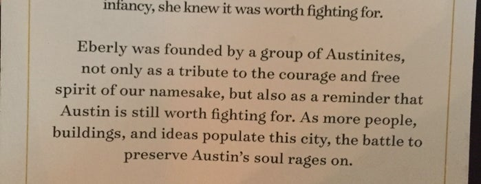 Eberly is one of Austin.