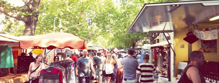 Wochenmarkt am Kollwitzplatz is one of mustgos.