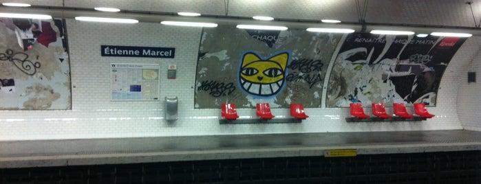 Métro Étienne Marcel [4] is one of Stations de metro a Paris.