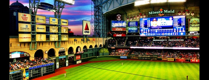Minute Maid Park is one of Cole's Favorite Spots 2017.