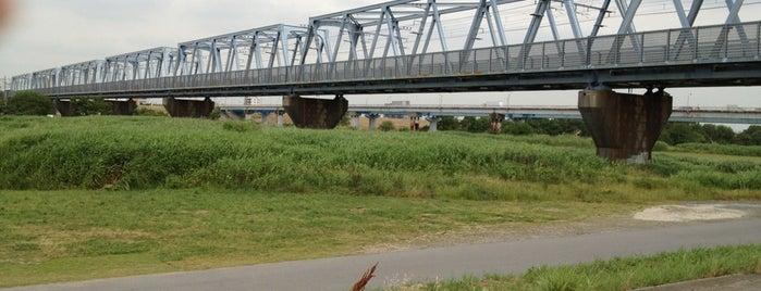 武蔵野線 江戸川橋梁 is one of 千葉県と隣県を繋ぐ鉄道橋.