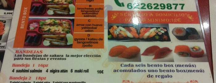Sakura Sushi Bar is one of Madrid.