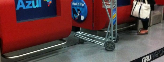 Check-in Azul is one of Aeroporto de Guarulhos (GRU Airport).