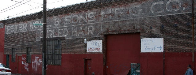 Peter Woll & Sons Curled Hair Ghost Sign is one of Ghost Signs and Faded Ads.