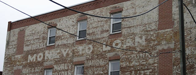 Uncle Bill's Money To Loan Ghost Sign is one of Ghost Signs and Faded Ads.