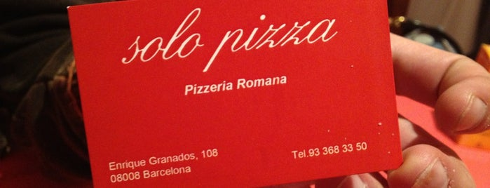 Solo Pizza is one of Pizzas de Barcelona.
