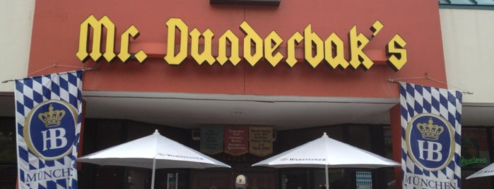 Mr Dunderbak's is one of food around tampa.