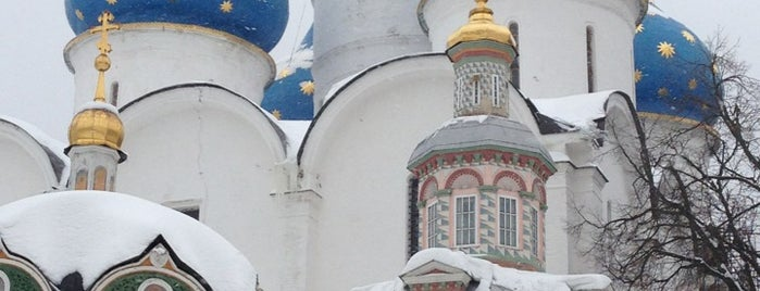 The Holy Trinity-St. Sergius Lavra is one of Moscow monasteries  and  churches..