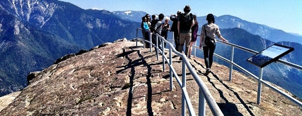 Moro Rock is one of Sequoia National Park.