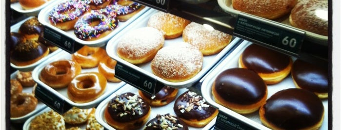 Krispy Kreme is one of Вкусненькое.
