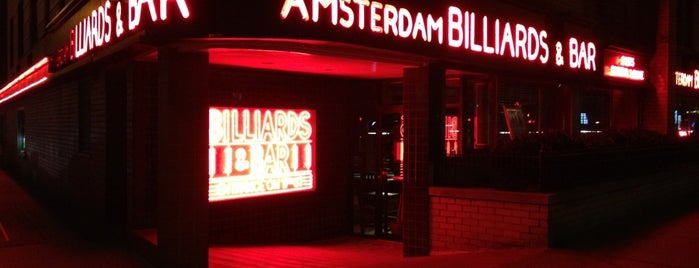Amsterdam Billiards & Bar is one of NYC.