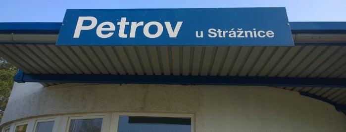 Železniční zastávka Petrov u Strážnice is one of Železniční stanice ČR: P (9/14).