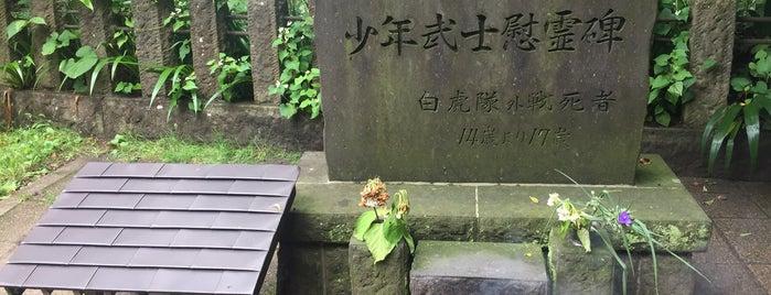 白虎隊士十九士の墓 is one of 行った所&行きたい所&行く所.