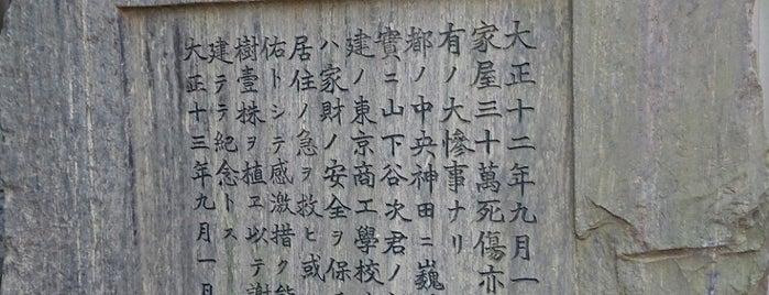 震災紀念の碑 is one of 近現代.