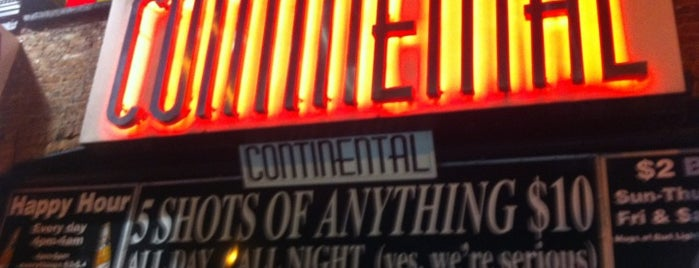 Continental is one of My favorite NYC spots.
