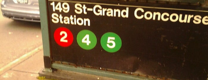 MTA Subway - 149th St/Grand Concourse (2/4/5) is one of NYC Subways 4/5/6.